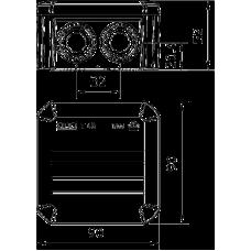 Разклонителна кутия ОВО 90x90x52 с щуцери