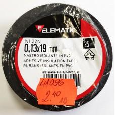 Изолационна лента Elematic NI 22N 19x0.13mm 25m черна