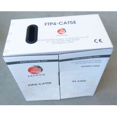 FTP Cat5e 24AWG CU grey ETL