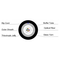 Оптичен кабел GYXTY 4 влакна без метален елемент