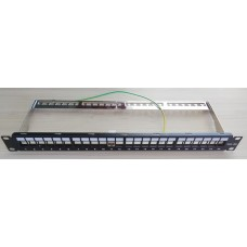 Пач панел FTP Cat.6A 24 порта