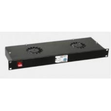 Вентилаторен блок за 19 RACK - 2 вентилатора
